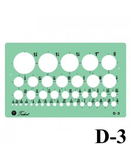 Gabarito Desenho D-03 Bolometro Trident