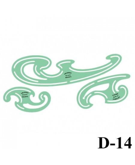 Gabarito Desenho D-14 Curva Francesa Trident