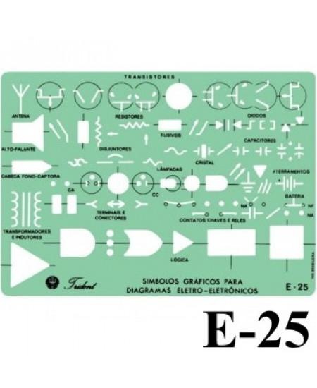 Gabarito Eletricidade E-25 Eletro Eletrônica Trident