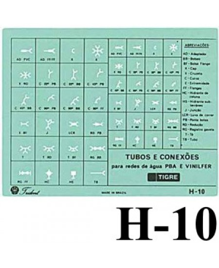 Gabarito Hidráulica H-10 Hidráulica Trident