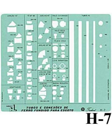 Gabarito Hidráulica H-07 Tubulações Trident