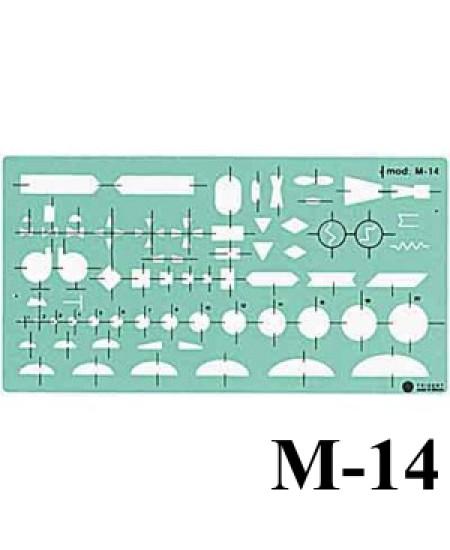 Gabarito Mecânica M-14 Montagens Industriais Trident