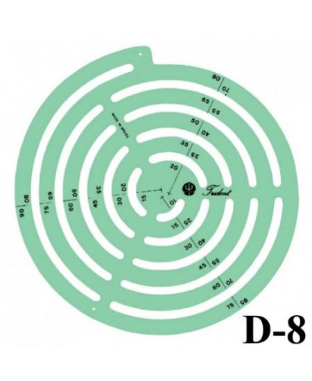 Gabarito Desenho D-08 Raios Trident