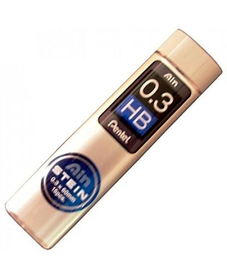 Mina Grafite Pentel AIN STEIN 0.3mm HB