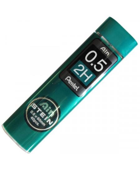 Mina Grafite Pentel AIN STEIN 0.5mm 2H