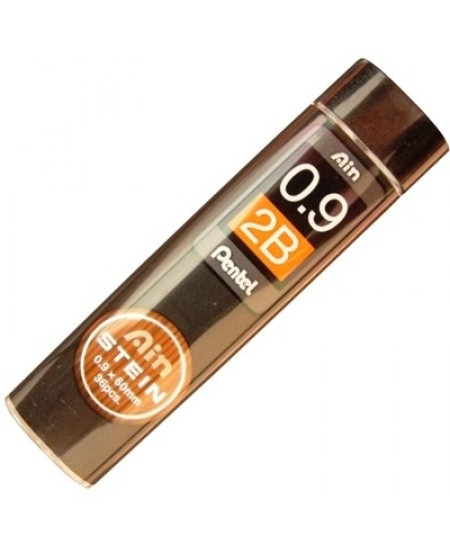 Mina Grafite Pentel AIN STEIN 0.9mm 2B