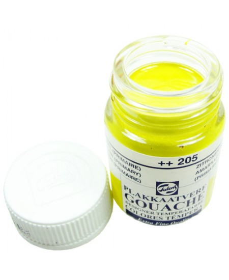 Tinta Guache Para Caligrafia Talens 16ml 205 Lemon Yellow (P)