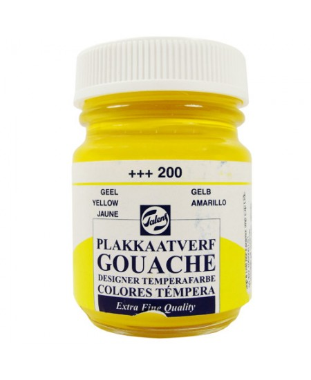 Tinta Guache Para Caligrafia Talens 50ml 200 Yellow