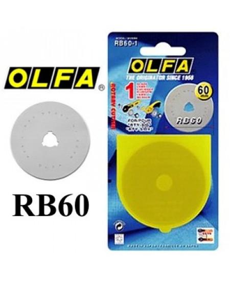 Lâmina Para Estilete Olfa Circular 60mm RB60