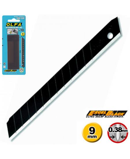 Lâmina Para Estilete OLFA ABB 10 Black 9mm