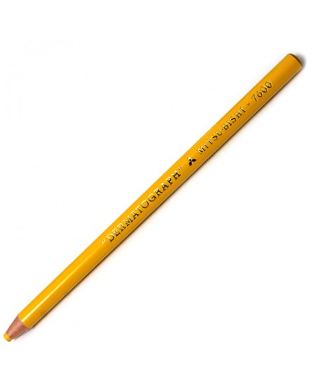 Lápis Dermatográfico  Amarelo MitsuBishi 7600