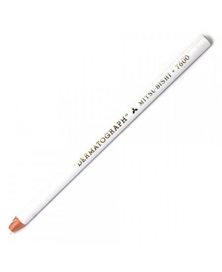 Lápis Dermatográfico  Branco MitsuBishi 7600