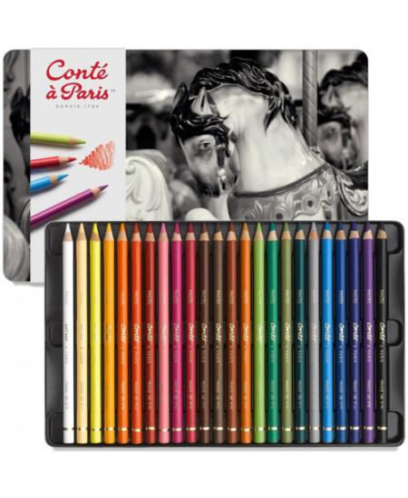 Lápis Pastel Seco Conté à Paris Estojo 24 Cores