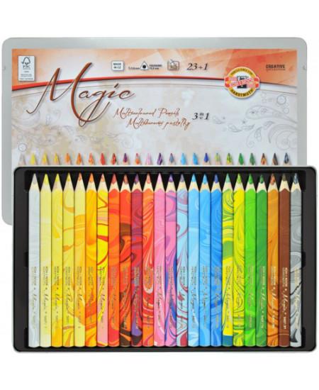 Lápis de Cor 3 em 1 Multicolorido 23 Cores 3408