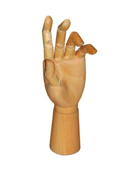 Mão Articulada de Madeira 30cm Esquerda