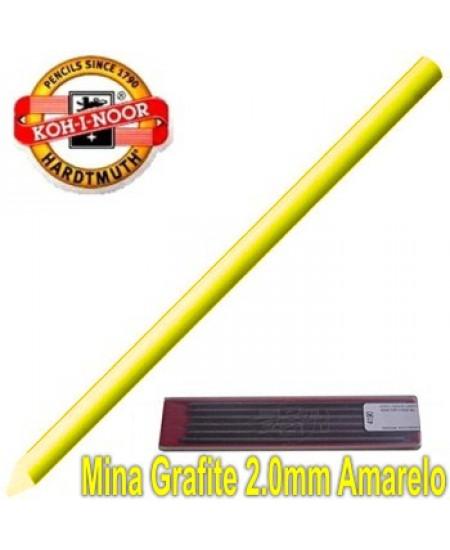 Mina Grafite Koh-I-Noor 2.0mm  Amarelo 4300
