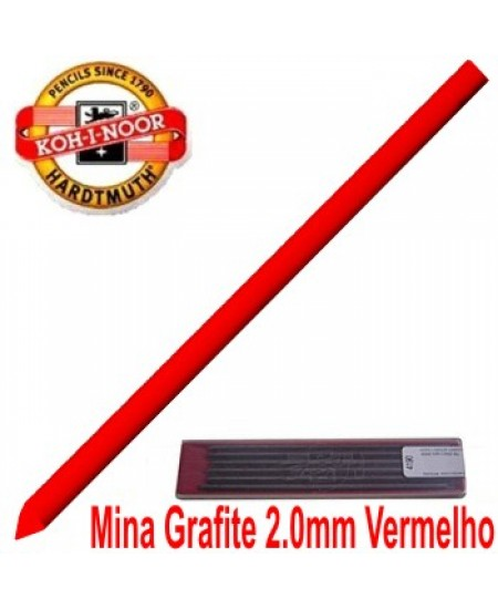 Mina Grafite Koh-I-Noor 2.0mm Vermelha 4300
