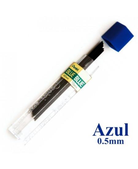 Mina Grafite Pentel 0.5mm Azul