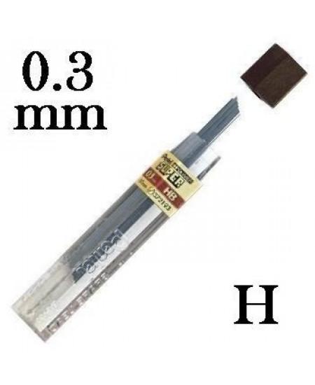 Mina Grafite Pentel 0.3mm H