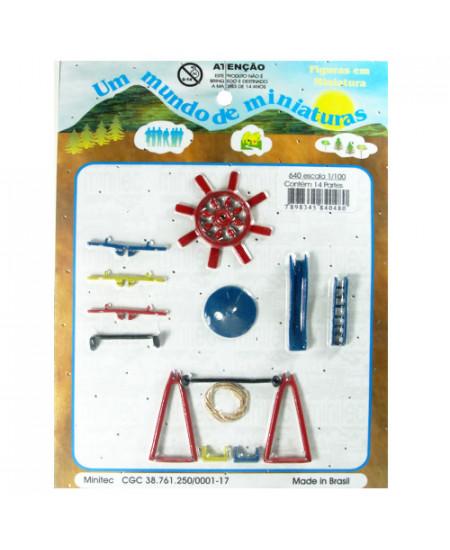 Miniatura de Playground 1/100 640 Minitec 04 Peças