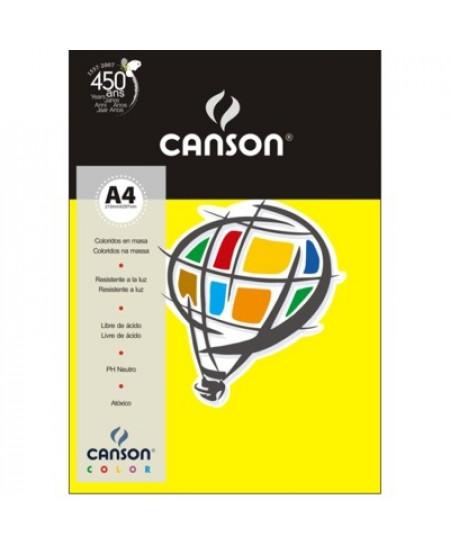 Papel Canson Vivaldi A4 180g/m² 10 Folhas 04 Amarelo