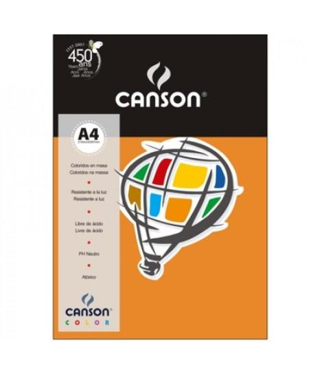 Papel Canson Vivaldi A4 120g/m² 15 Folhas 07 Laranja