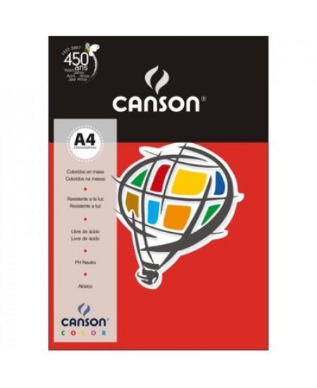Papel Canson Vivaldi A4 180g/m² 10 Folhas 08 Vermelho