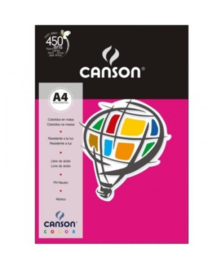 Papel Canson Vivaldi A4 180g/m² 10 Folhas 11 Rosa Escuro