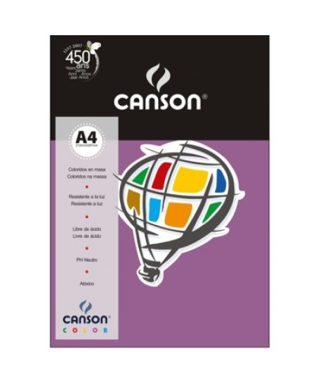 Papel Canson Vivaldi A4 120g/m² 15 Folhas 13 Lilás