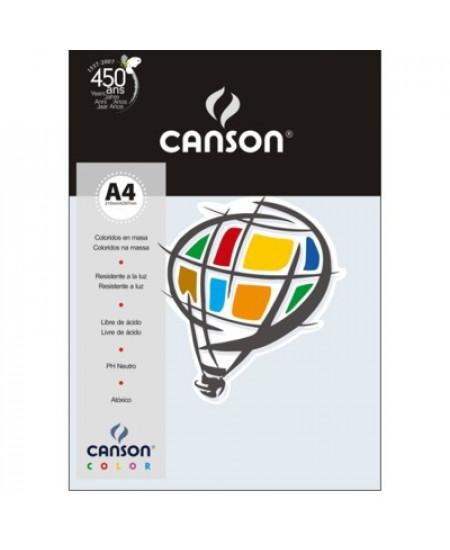 Papel Canson Vivaldi A4 180g/m² 10 Folhas 16 Azul Claro
