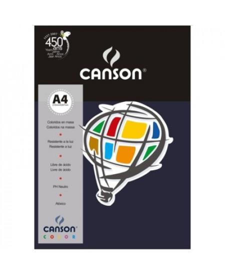 Papel Canson Vivaldi A4 120g/m² 15 Folhas 17 Azul Marinho