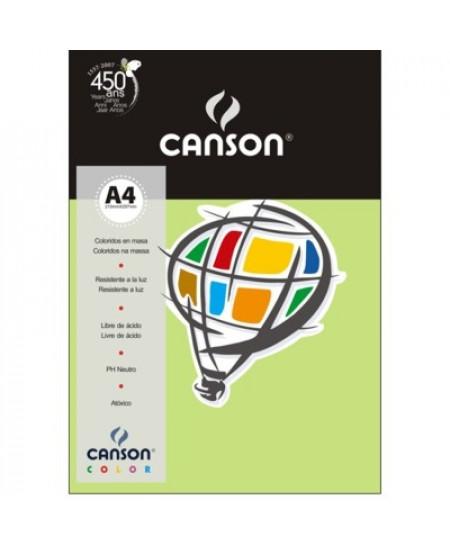 Papel Canson Vivaldi A4 180g/m² 10 Folhas 19 Verde Claro