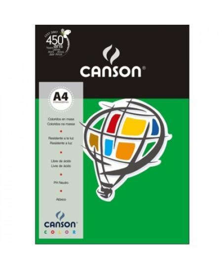 Papel Canson Vivaldi A4 180g/m² 10 Folhas 20 Verde Escuro