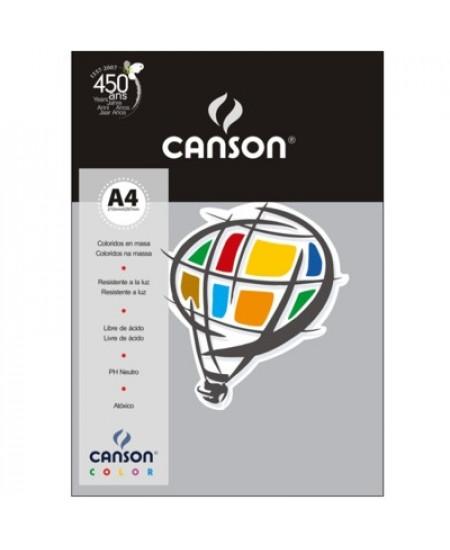 Papel Canson Vivaldi A4 180g/m² 10 Folhas 26 Cinza