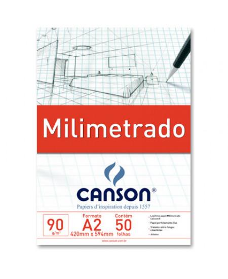 Bloco de Papel Milimetrado A2 Canson 90g/m²