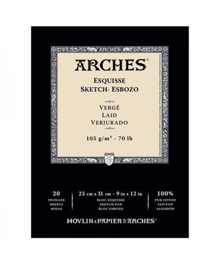 Bloco de Papel Arches Sketch Canson 105g/m²