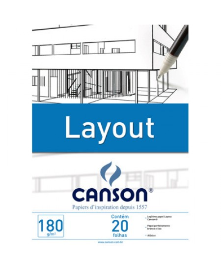 Bloco de Papel Layout Canson 180g/m² A3