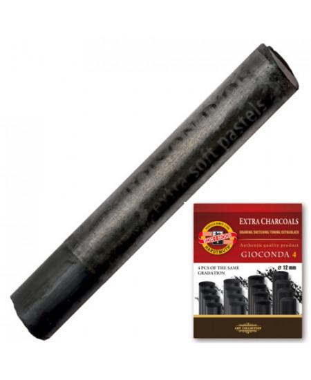 Carvão Graduado Koh I Noor Extra Soft 04 Unidades 8694/2