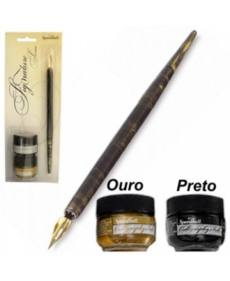 Kit  para Caligrafia Speedball Pena e Tinta - Signature 94158