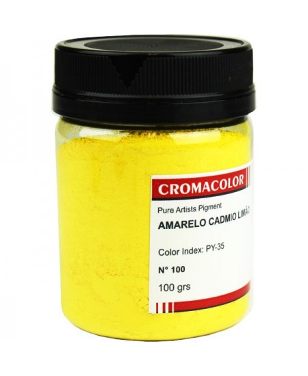 Pigmento Artístico Puro 100 Amarelo Cádmio Limão Cromacolor 100g