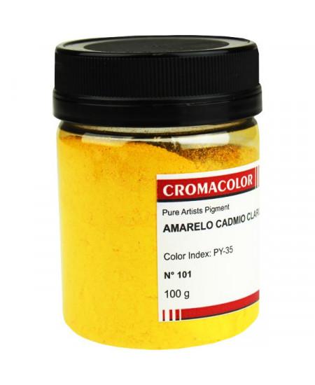 Pigmento Artístico Puro 101 Amarelo Cadmio Claro Cromacolor 100g