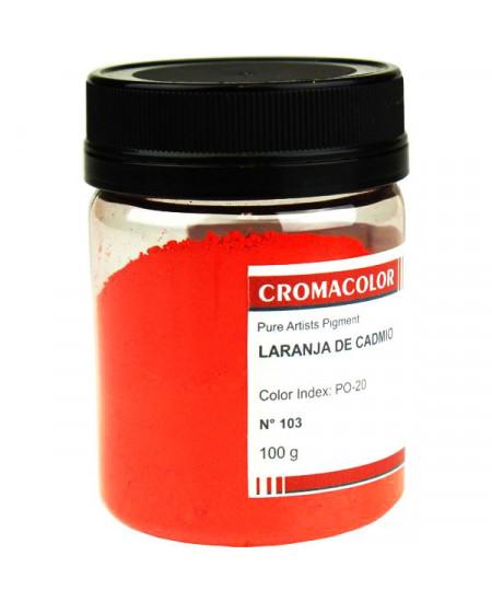 Pigmento Artístico Puro 103 Laranja Cadmio Cromacolor 100g
