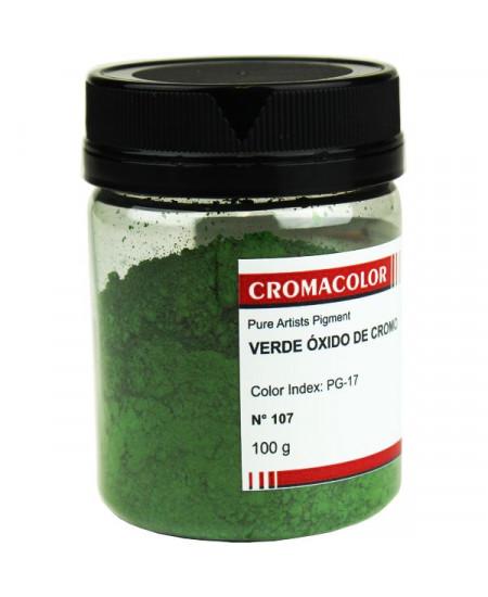 Pigmento Artístico Puro 107 Verde Óxido Cromo Cromacolor 100g