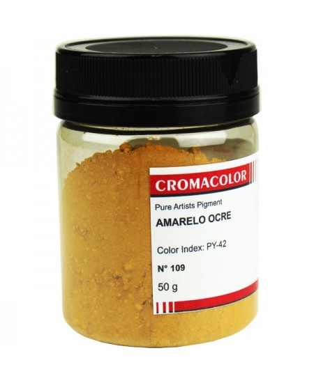 Pigmento Artístico Puro 109 Amarelo Ocre Cromacolor 50g