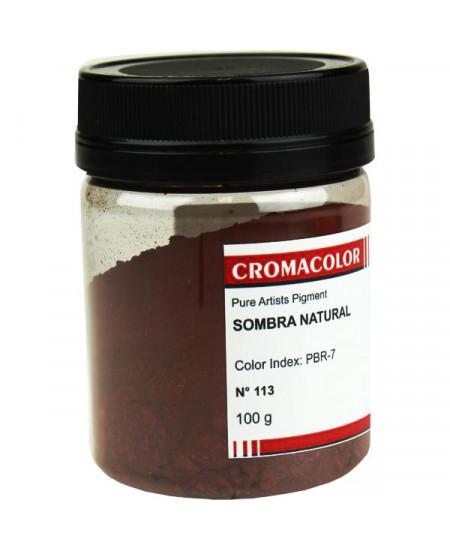 Pigmento Artístico Puro 113 Sombra Natural Cromacolor 100g