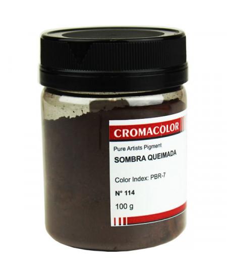 Pigmento Artístico Puro 114 Sombra Queimada Cromacolor 100g