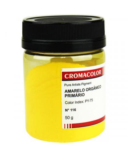 Pigmento Artístico Puro 116 Amarelo Orgânico Prim Cromacolor 50g