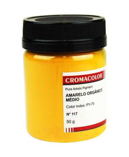 Pigmento Artístico Puro 117 Amarelo Orgânico Claro Cromacolor 50