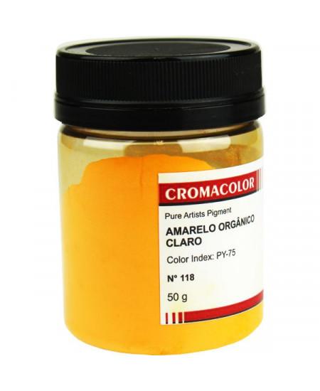 Pigmento Artístico Puro 118 Amarelo Orgânico Médio Cromacolor 50