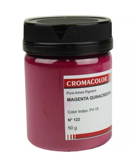 Pigmento Artístico Puro 122 Magenta Quinacridona Cromacolor 50g